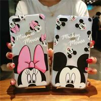 Cartoon Mickey Mouse Minnie Case for iPhone XS Max 8 7 Soft TPU Shockproof Cover