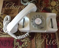GTE STARLITE AUTO ELECTRIC ROTARY DIAL TELEPHONE White ~MARKED NOT FOR SALE~