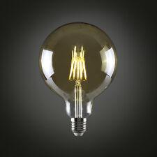 MiniSun Vintage Amber 6w LED Filament Globe Lightbulb Retro Bulb 2700k ES E27
