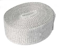 "E-TECH Heat Shield Wrap Exhaust Wrap 2"" White Fibre Glass 550'C 5M Exhaust KIT"