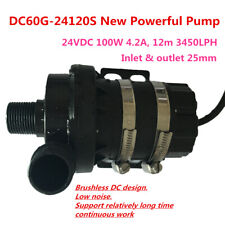 POWERFUL 24V DC Brushless Submersible Pump DC60G-24120S 100W 12m 3450LPH Stable