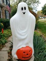 """Vintage Halloween TPI Ghost With Pumpkin Lighted Blow Mold 33"""" NEXT DAY SHIP!"""