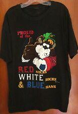 RED NECKS WHITE SOX & BLUE JEANS beat-up XL tee Hillbilly T shirt 1993 USA