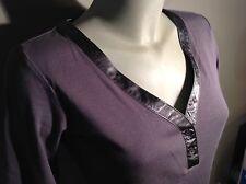 MEXX 3/4 Ärmel Shirt Grau Satinpaspelierung Am Ausschnitt S-L Neuwertig❗️