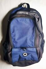 Travel Backpack Gear Logo Many Pockets Dark Blue Possibly Travel With Baby