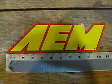 AEM Intakes large Yellow/Red Sticker Decal