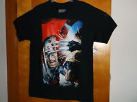 "NEW.""MARVEL COMICS"" MEN'S  BLACK "" CAPTAIN AMERICA"" SHORT SLEEVE T'SHIRT"