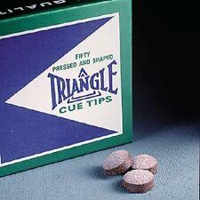 Triangle Pool Cue Tip 13mm (5 Tips) Medium Hard w/ FREE Shipping
