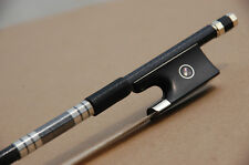 Parisian Eyes-Pro. Braided Carbon Violin Bow Ebony Frog