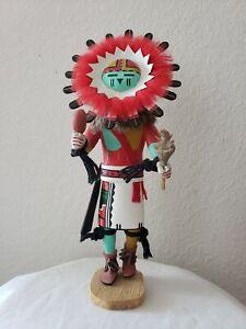 """Hopi Ty Duwyenie  Sun Kachina signed 12 1/2"""" tall"""