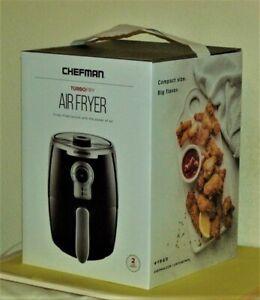 Chefman TurboFry 2 Liter Air Fryer, Dishwasher Safe Basket & Tray, Black
