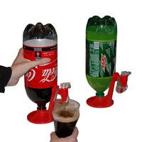 2-Liter Soft Drink Dispenser Fizzy Soda Saver Refrigerator Home Party Red