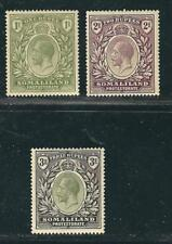 Somaliland Protectorate Stamps 60-63 SG 69-71 MHR F/VF 1912-19 SCV