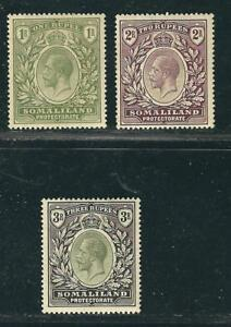 Somaliland Protectorate Stamps 60-63 SG 69-71 MHR F/VF 1912-19 SCV $225.50
