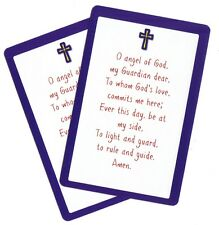 O ANGEL OF GOD, MY GUARDIAN DEAR, TO WHOM.....(Lot of 2) Children's Prayer cards