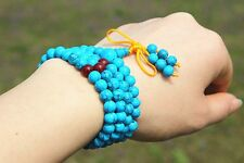 6mm Tibet Buddhism 108 Blue Prayer Bead Mala Necklace