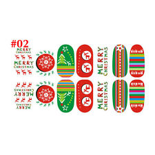 Christmas Nail Art Stickers 3D Design Manicure Tips Decals Wraps Decorate DIY #2