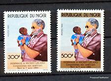 REPUBLIQUE DU NIGER MICKEY LELAND  TIMBRE NEUF ** MNH Yt789/90  88M661