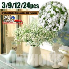 1-24X Artificial Baby's Breath Gypsophila Silk Flowers Leaf Decor Fake Bouquet