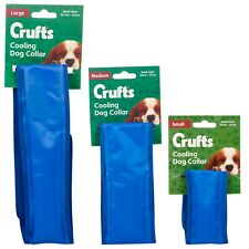 Summer Pet Blue Instant Ice Gel Cooling Collar Dog Scarf Temperature Adjustable