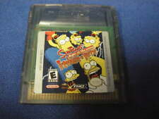 AS IS SIMPSONS NIGHT OF THE LIVING TREEHOUSE OF HORROR GAME BOY COLOR NOT TESTED