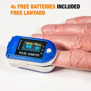 GENUINE MEDICAL GRADE FINGER PULSE OXIMETER Monitor Heart Rate Blood Oxygen