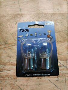 2 Turn Signal Light Bulbs-Standard Lamp - Turn Signal Light Bulb Eiko 7506