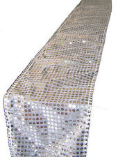 Silver Sequin Chair Sash or Table Runner Perfect For Weddings And Events Or Home