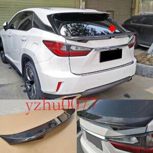 2016-19 For Lexus RX350 RX450 Carbon Fiber Rear Tail Trunk Spoiler Wing Lip Trim