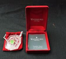 NIB 1993 WATERFORD CRYSTAL Ireland 12 DAYS CHRISTMAS-LORD LEAPING Ornament #10