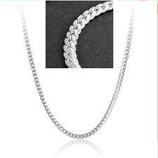 5MM 20Inch 925 Sterling Silver Plated Jewelry Figaro Snake Chain Link Necklace