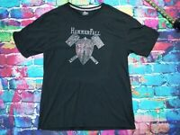 Hammerfall Metal Band Steel Meets Steel Men's Black T-Shirt