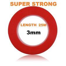 3mm Rosso BIADESIVO ADESIVO STICKY TAPE EASY LIFT Super Resistente Lunghezza 25m