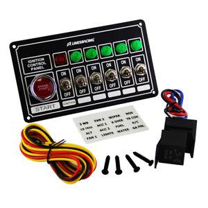 LR Racing Switch Panel Ignition Engine Start 6 Switch & Lights Switch Panel BK