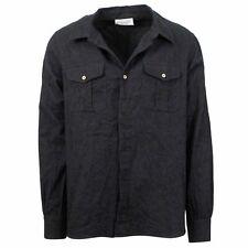 NWT FAITH CONNEXION Gray Flannel Button Down Shirt Size L $540