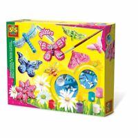 Ses Creative DEI BAMBINI Farfalla Glitter Casting E Set di Pittura (1131)