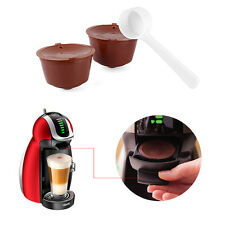 2pcs Refillable Reusable Coffee Capsules Pod Cup for Nescafe Dolce Gusto Plastic
