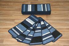 16 Stair Case Treads Pad Lema Blue  Stripe Pads Large Stripe Stair Pads