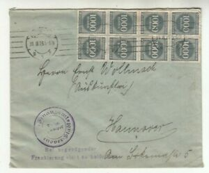 Deutsches Reich, Briefkuvert Finanzamt Hannover, Infla, 1000 Mark als MeF, 1923