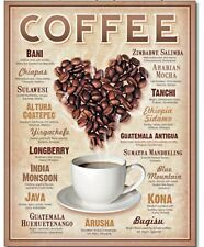 Coffee Lovers Metal Sign Java Cappuccino Restaurant Kitchen Home Wall Decor Gift