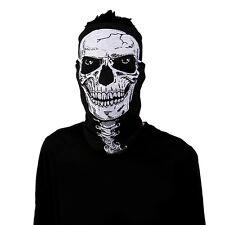 25cm × 50cm Black Magic Ghost Skeleton Skull Evil Face Mask Veil Scarf Head Kit