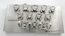 Endodontic Rubber Dam Clamp With Tray Set, 12 Pcs. Dentist Instrument Free Ship