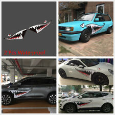 59'' Full Size Shark Mouth Tooth Teeth Car Body Door Graphic Vinyl Decal Sticker