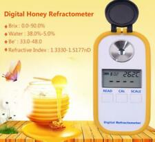 New Portable Digital Honey Refractometer  0-90%  Brix  ATC Water