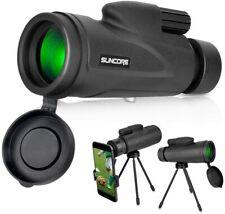 Telescopio Monocular, soporte para teléfono y trípode, visión nocturna, Impermeable alcance 12x50