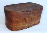ancienne boîte à dentelle en bois  - dentellière art populaire