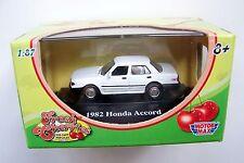 HO scale MOTORMAX 1982 WHITE Honda Accord  : 1/87 diecast Model Car