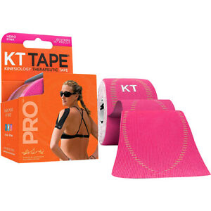"KT Tape Pro 10"" Precut Kinesiology Elastic Sports Roll - 20 Strips - Pink"