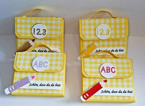 4x Gastgeschenke Give away Mini Schulranzen Einschulung Schulanfang 1.Schultag C
