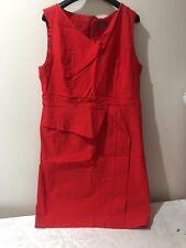 Stunning Red Jacqui E Size 18 Plus Size Slight Stretchy Lined Dress $149.95